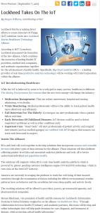 Lockheed Martin's Healthcare Technology Alliance