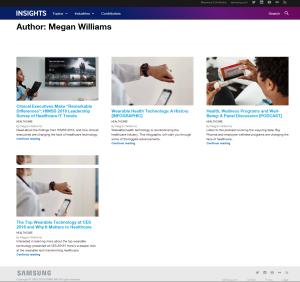 Samsung Business Insights screenshot
